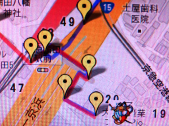 大田区産業プラザまでの道のり